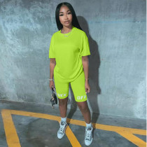 Casual Solid Short Sleeve Two Piece Shorts Set KSN-5117-1