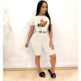 Cartoon Print T Shirt And Shorts 2 Piece Sets TEN-T3405