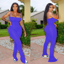 Plus Size Split Stacked Strap Bodycon Jumpsuits NM-N8106