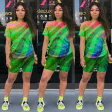Casual Fashion Tie-dye Printing Two-piece Suit MOY-H5181
