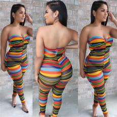 Casual Multicolor Striped Jumpsuit TEN-T3410
