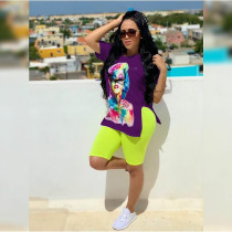 Casual T Shirt And Shorts Two Piece Sets MEI-9033-1