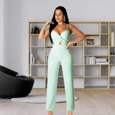 Sexy Solid Sling One Piece Jumpsuits PN-6564