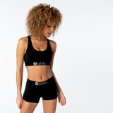 Solid Tank Tops Shorts Fitness Two Piece Sets OD-8345