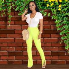 Hot Sale Fashion Split Casual Pants OD-8353