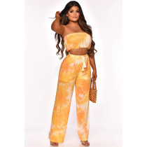 Sexy Tie-dye Printing Perspective Two Piece Set CHY-7168