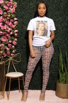 Casual T Shirt+Mesh See Through Pants 2 Piece Sets AIL-096