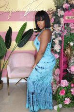 Fashion Casual Printed Sleeveless Maxi Dress YS-8533