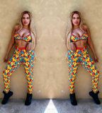 Sexy Printed Tank Top And Pants 2 Piece Suits OD-8359