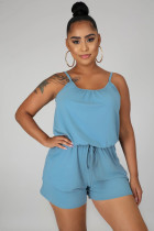 Solid Adjustable Strap One Piece Rompers MIL-114