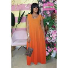 Plus Size Gradient Strappy Sleeleveless Maxi Dress CQ-018