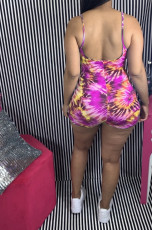 Colorful Printed Strap One Piece Rompers JH-167
