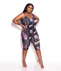 Plus Size New Fashion Sexy Tight Starry Sky Print Playsuit TK-6091