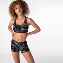 Refreshing Vitality Print Fitness Sports Two Piece Set OD-8400