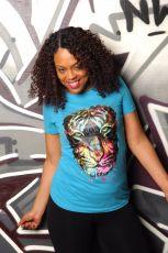 Tiger Head Print Short Sleeve O Neck T Shirt WZ-8275