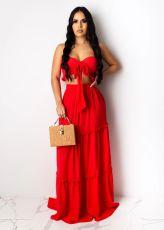 Sexy Elegant Tube Top Long Dress Suit SFY-133