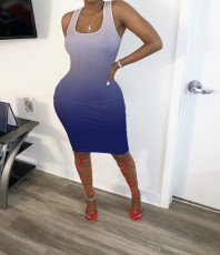 Casual Fashion Gradient Midi Dress MUM-5045