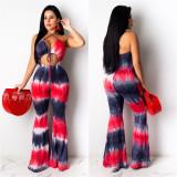 Fahion Sexy Slim Printed Jumpsuit LSL-6346-1