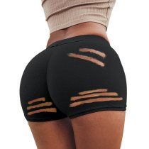 Plus Size 4XL Sexy Hole Skinny Mini Shorts LUO-3083