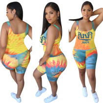 Plus Size Pink Letter Print Sports Two Piece Sets MTY-6313