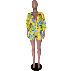 Fashion Sexy Casual Printed Romper YSU-8002