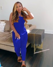 Plus Size 4XL Sexy Backless One Piece Jumpsuits WUM-868