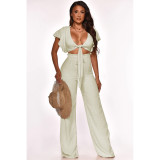 Sexy Elegant Solid Color Party Club Two Piece Set SHE-7202
