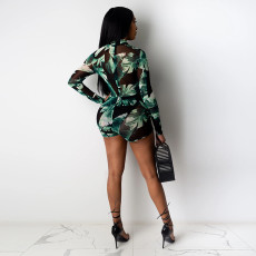 Sexy See Through Long Sleeve Bodycon Rompers YF-9673