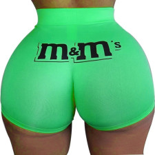 Plus Size Fashion Sexy Casual Skinny Letter Print Fitness Shorts SHD-9299