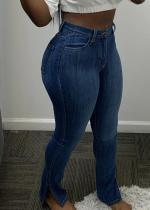 Sexy Denim Side Split Skinny Jeans Pencil Pants HMS-5352