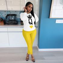 Fashion Casual Print Long Sleeve Top Trousers Set YIM-132