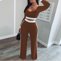 Casual Long Sleeve Two Piece Pants Set MEI-9102