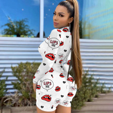 Plus Size 4XL Sexy Fashion Long Sleeve Print Rompers HGL-1508