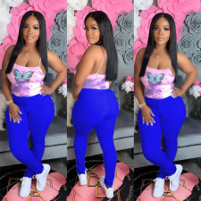 Plus Size Casual Solid Skinny Long Pants ABF-4022