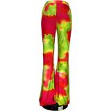 Plus Size 4XL Tie Dye Long Tight Flared Pants GS-1863