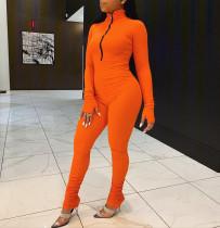 Simple Fashion Casual Solid Color Slim Jumpsuit RM-6302