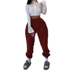 Solid Color Fashion Casual Pants LUO-3101