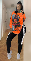 Plus Size Printed Long Sleeve 2 Piece Pants Set SHA-6170