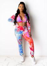 Street Fashion Print Long Sleeve Top And Pants Two Piece Set TEN-3435