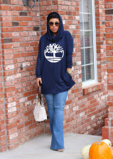 Casual Print Pullover Hooded Sweatshirt MDF-5161