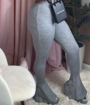 Trendy Solid Skinny Long Flared Pants OSM-5013