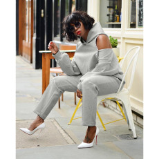 Casual Hoodies Long Pants Two Piece Suits HHF-9051