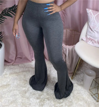 Plus Size 5XL Solid Seexy Skinny Flared Pants MYF-951