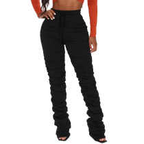 Casual Solid Tight Long Stacked Sweatpant YLF-8028