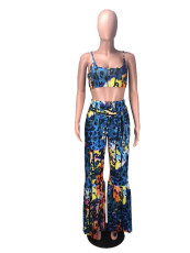 Sexy Printed Cami Top And Pants Two Piece Suits DMF-8087
