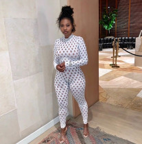 Sexy Long Sleeve Slim Fit Club Party Jumpsuit YF-9724