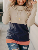 Casual Patchwork Pullover Sweatshirt Tops MA-360