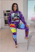 Camo Print Long Sleeve Two Piece Pants Set MIL-169