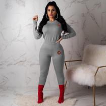 Casual Beading Long Sleeve 2 Piece Pants Set MGF-1007