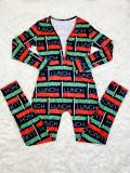 Casual Printed V Neck Long Sleeve Jumpsuits SHD-9431